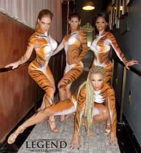 body painted talent las vegas, gogo dancers las vegas