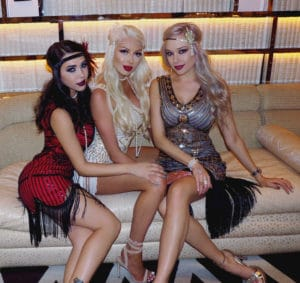 talent agency books flapper girls for 1920s themed event at the wynn hotel in las vegas