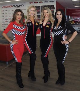 legend models Las Vegas motor speedway event models