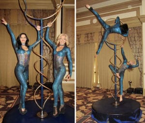Aerial Ring Duo for BTL Aesthetics in Las Vegas