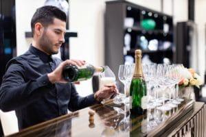Legend Entertainment Bartender for Lalique boutique at crystals las vegas